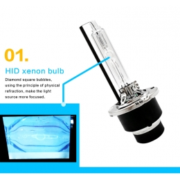 HID xenon bulbs 35W 12V  D2S new metal style